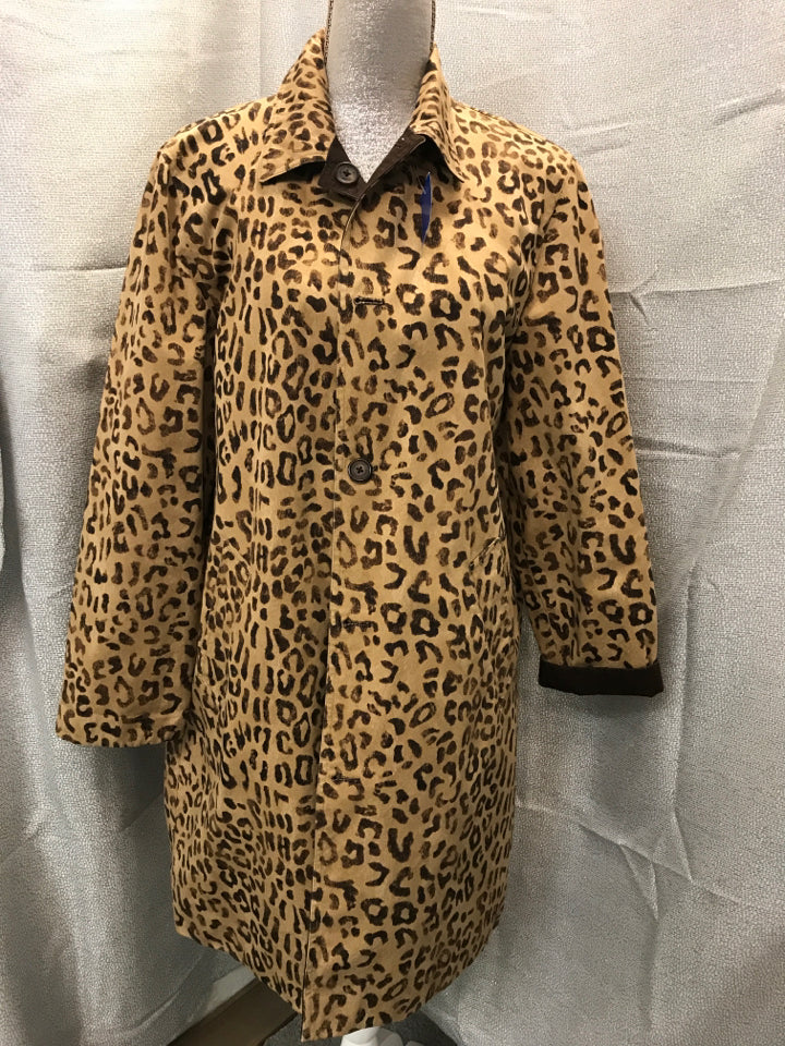 jones ny Size L Cheetah/Brown Reversible Jacket