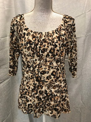 Only Nine Size 10 Cheetah Shirt