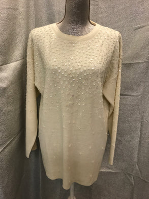 Maggie Lawrence Size M Ivory Sweater