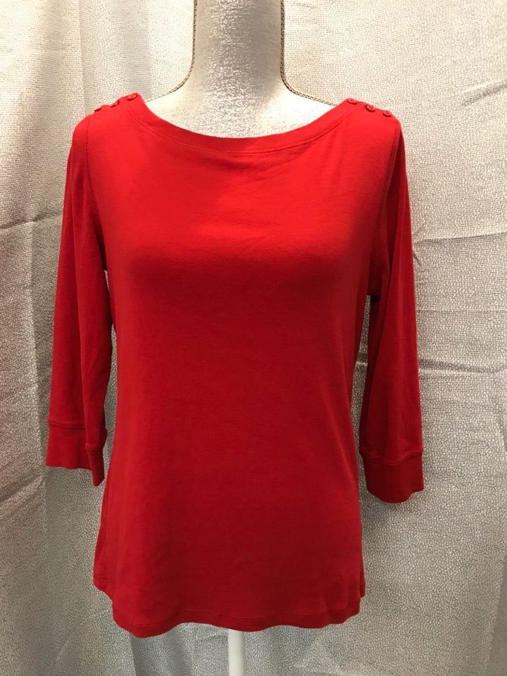 jones ny Size L Red Shirt