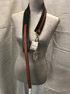 Fossil Size M Black/Brown Belt NWT