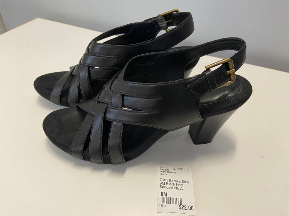 Giani Bernini Size 9M Black heel Sandals NEW