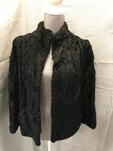 Load image into Gallery viewer, Nessier's Size M Black Fur PeaCoat Jacket