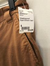Load image into Gallery viewer, Weatherproof Size 6 Brown Capri