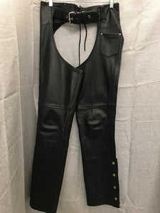 Size S Hot Leathers Black Chaps