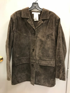 Jessica Holbrook Size Medium Brown Suede Leather Jacket