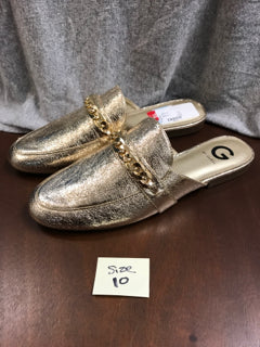 Guess Size 10 Gold Slide Shoes