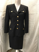 Load image into Gallery viewer, Christian Dior Size 8 Navy Skirt Suit