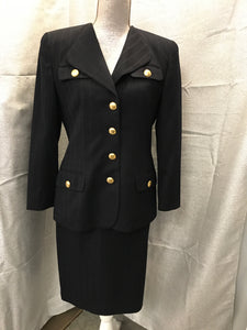 Christian Dior Size 8 Navy Skirt Suit