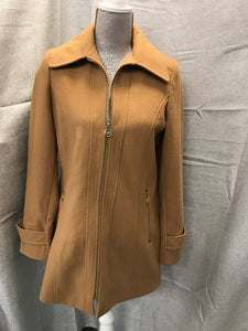 Michael Kors Size S Tan Wool Lined Jacket