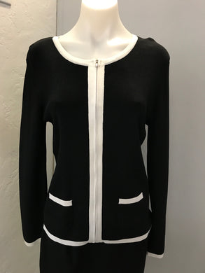 Sag Harbor Size S Black Zip-Up Sweater NWT