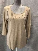 Load image into Gallery viewer, coldwater creek Size L Tan Shirt