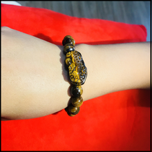 Load image into Gallery viewer, Ancient Wealth Magnet Tiger Eye Piyao Bracelet