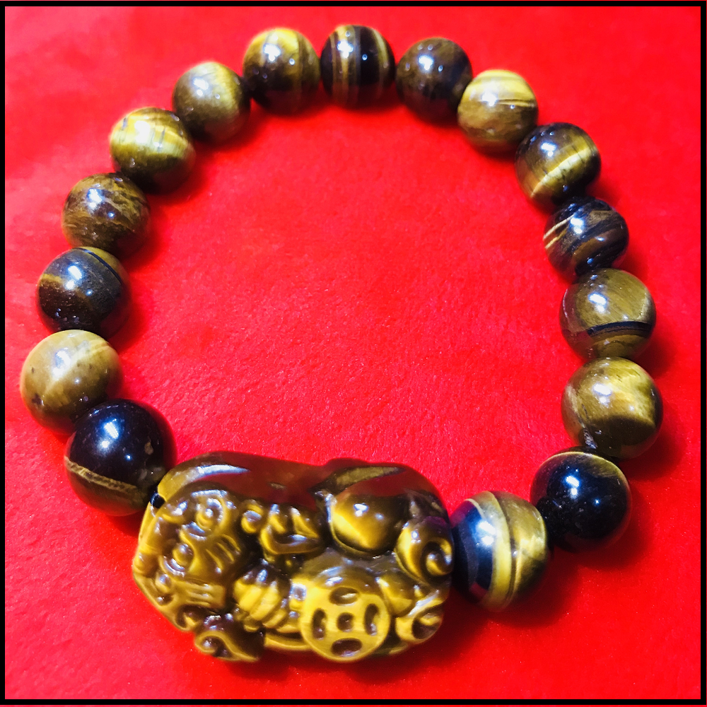 Ancient Wealth Magnet Tiger Eye Piyao Bracelet