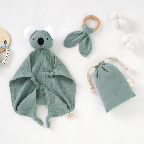 Koala Organic Cotton Security Blanket With Teether | 40x40CM