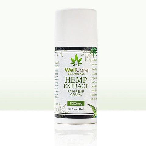 Hemp Extract Extra Strength Pain Relief Cream - 1000MG - Airless Pump