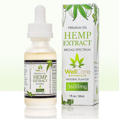 Hemp Extract Oil - 3600MG Broad Spectrum Supplement - Natural Flavor