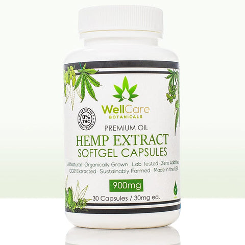 Hemp Extract Soft Gel Capsules - 900MG Isolate Supplement