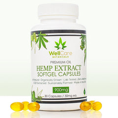Hemp Extract Soft Gel Capsules - 900MG Full Spectrum Supplement