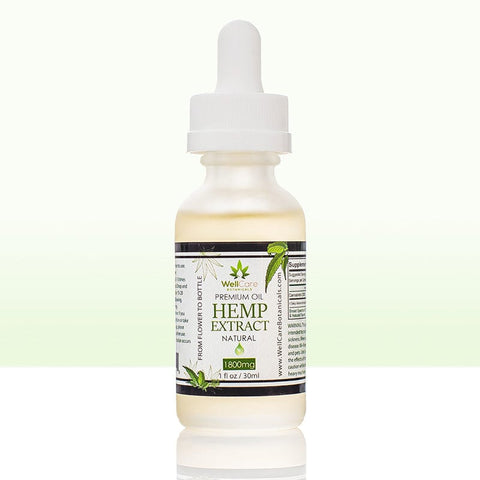 Hemp Extract Oil - 1800MG Broad Spectrum Supplement - Natural Unflavored