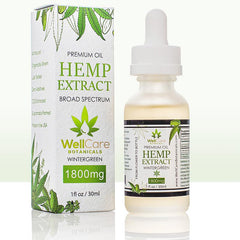Hemp Oil Extract 1800mg Tincture Wintergreen 02