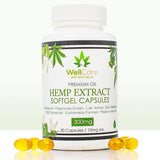 Hemp Extract Soft Gel Capsules - 300MG Full Spectrum CBD Supplement
