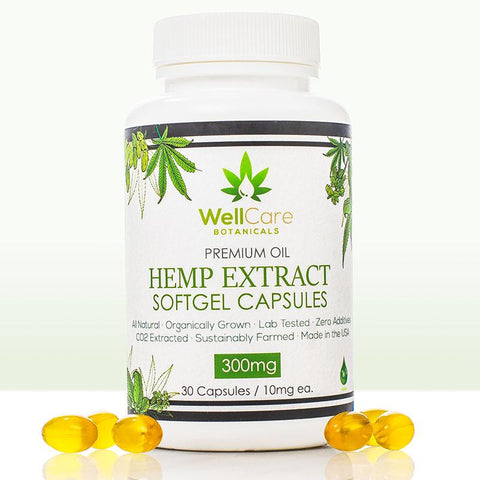 Hemp Extract Soft Gel Capsules - 300MG Full Spectrum Supplement