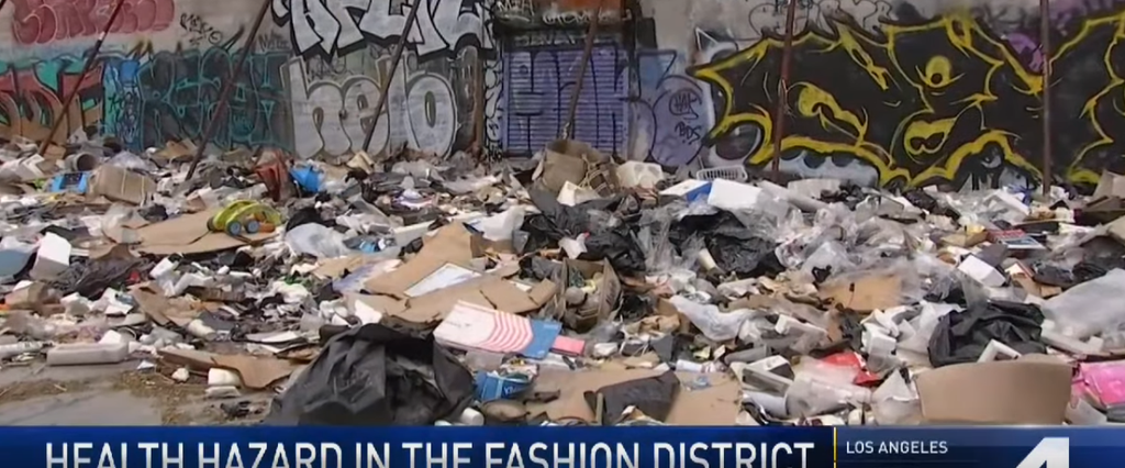 While Garcetti's in Hawaii, 12 Tons of Trash Fester in Downtown LA