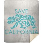 Save California Premium Mink Sherpa Blanket 50x60
