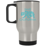 Save CA Silver Stainless Travel Mug