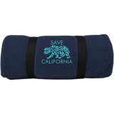 Save CA rolled Fleece Blanket