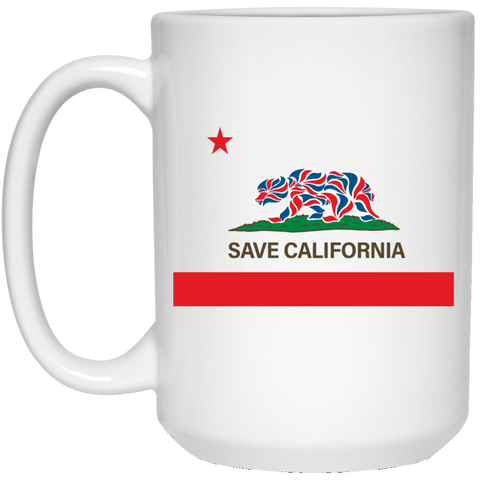 Save California Flag White Mug