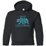 Save CA Youth Teal Bear Hoodie