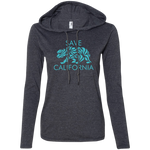 Save California Ladies' LS T-Shirt Hoodie