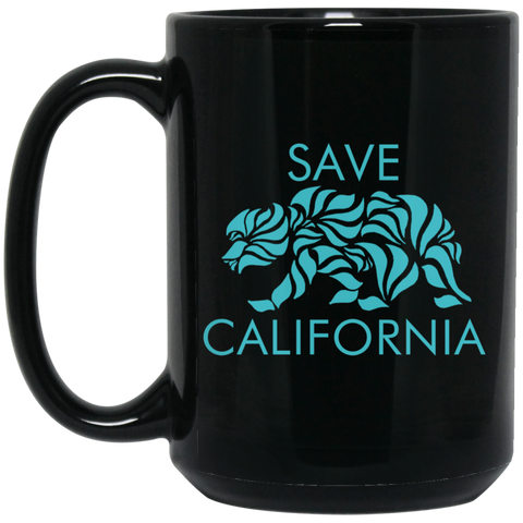 Save California 15 oz. Black Mug