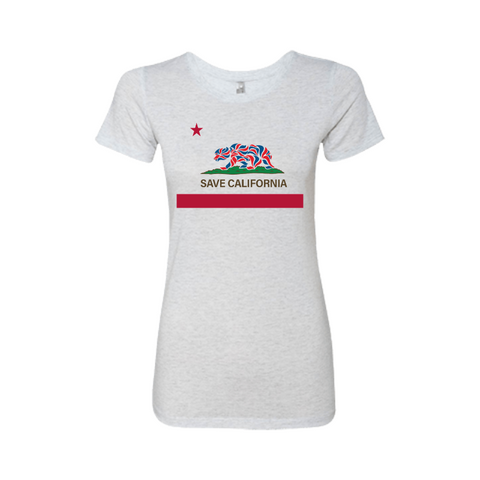 Save California Flag Ladies' Tee