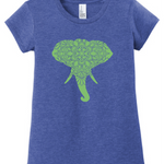 Elephant mandala tee for girls - cotton