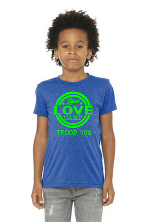 Live Love Camp tee for kids - triblend