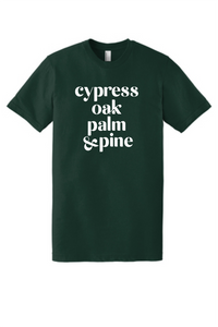 Cypress oak palm and pine tee for adults - cotton