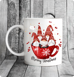 Cute Christmas gnome mug