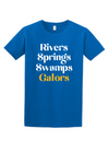 Rivers springs swamps gators tee for adults - triblend