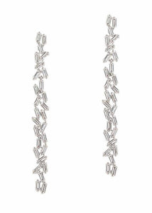 Hestia Double Row Drop Earrings