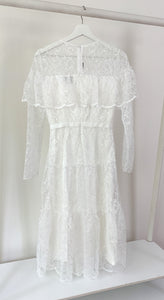 Long Sleeve Estate Chantilly Lace Dress