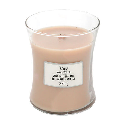 Woodwick Vanilla & Seasalt Medium Candle