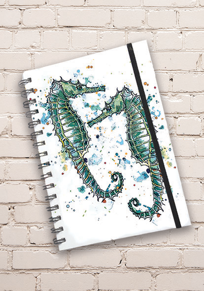 Sweet seahorse Notebook made in the South West