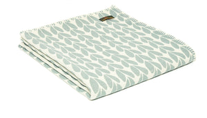 Tweedmill Organic Cotton Sycamore Duck egg throw /  blanket