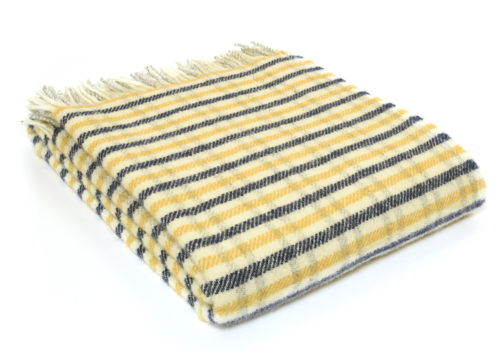 Coming soon Tweedmill Yellow and Navy Gun club check Wool Blanket Throw