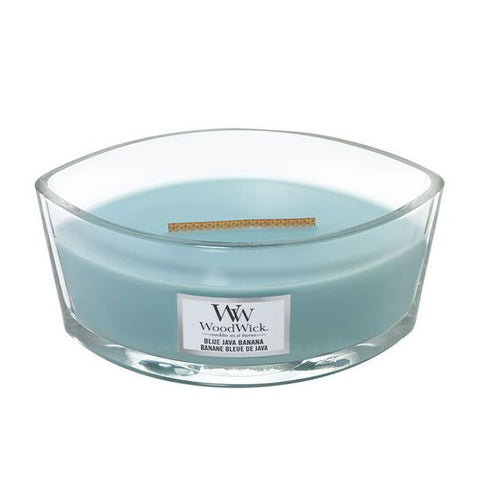 New Woodwick Hearthwick Blue Java Banana Candle
