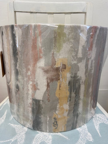 handmade velvet abstract lampshade