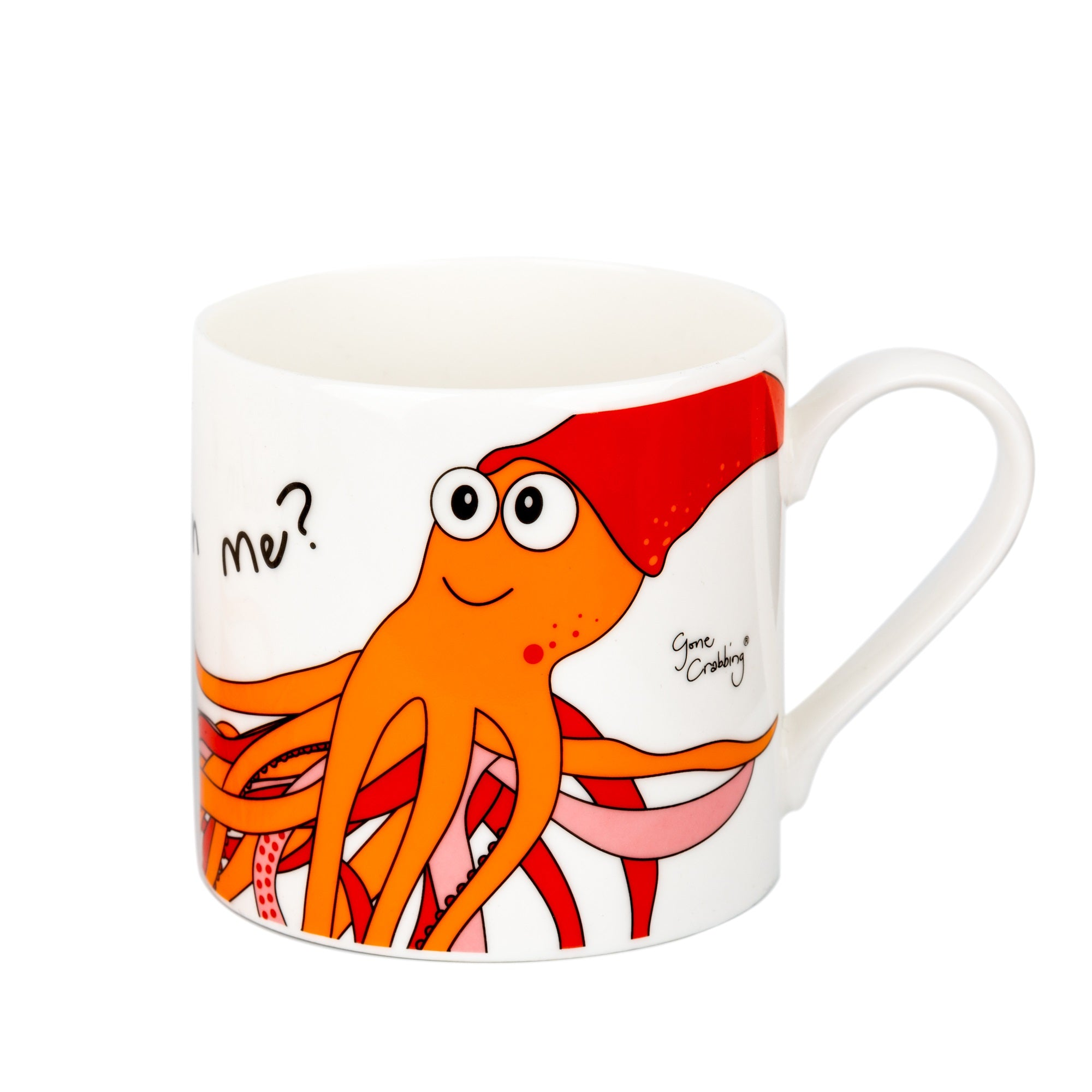 Gone Crabbing Are you squidding me NEW large mug